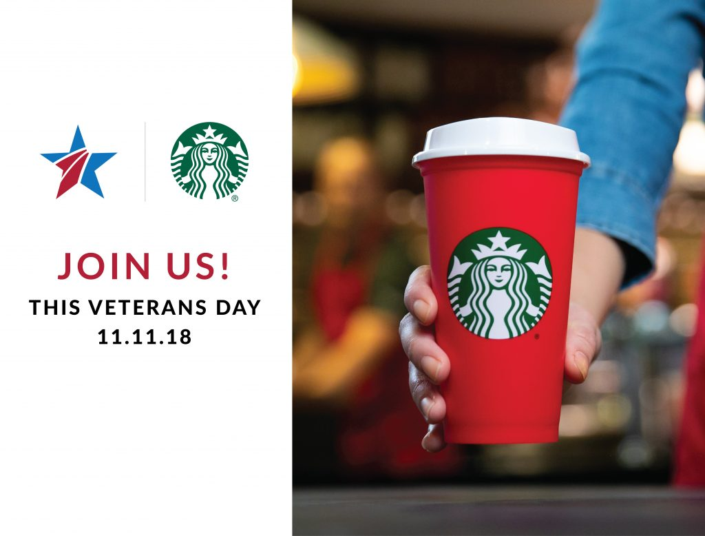 starbucks veterans day