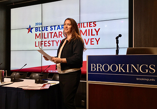 Blue Star Families speaker at Brookings Inst.