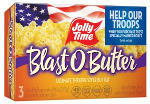 jolly time popcorn help our troops