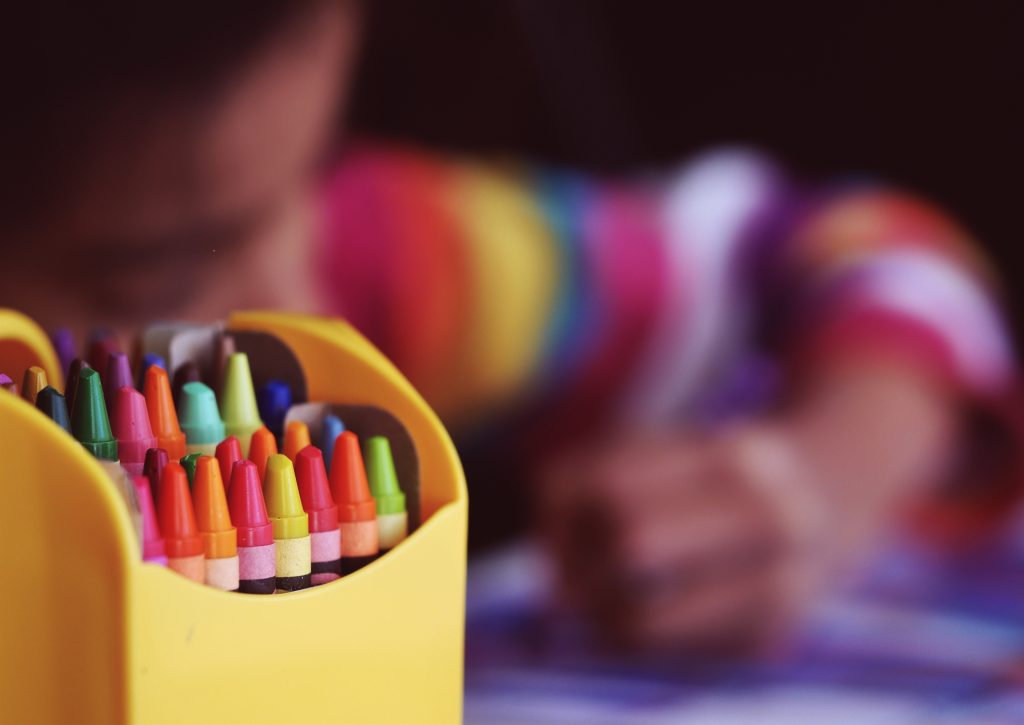 back to school, crayons