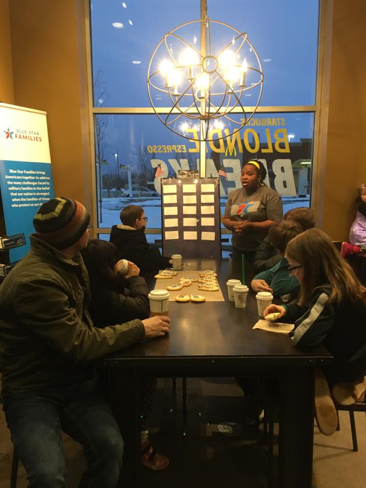 Blue Star Families Starbucks volunteers Alaska 2018 photo