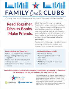 Blue Star Families START Family Program flyer