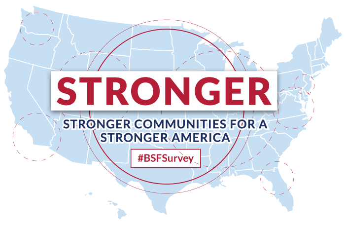 Stronger Survey Brand Board mobile hero image Stronger Communities for a Stronger America