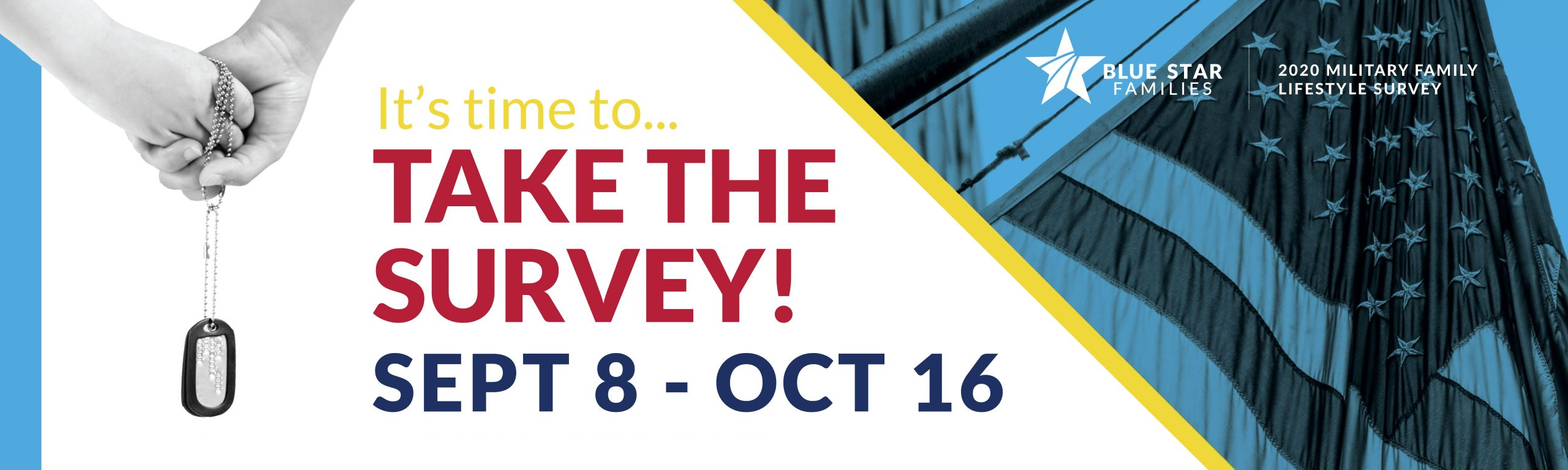 It's time to Take the Survey - Sept 8 - Oct 16 graphic header image