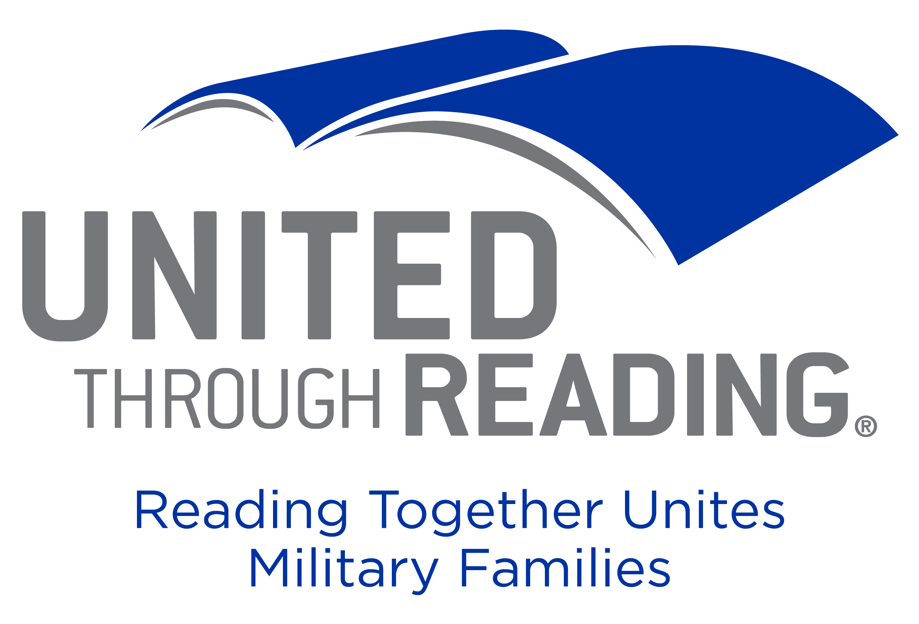 United Through Reading - Reading Together United Military Families logo