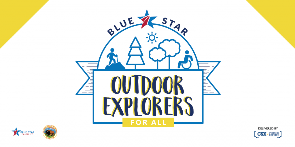 Blue Star Outdoor Explorers for all logo graphic image