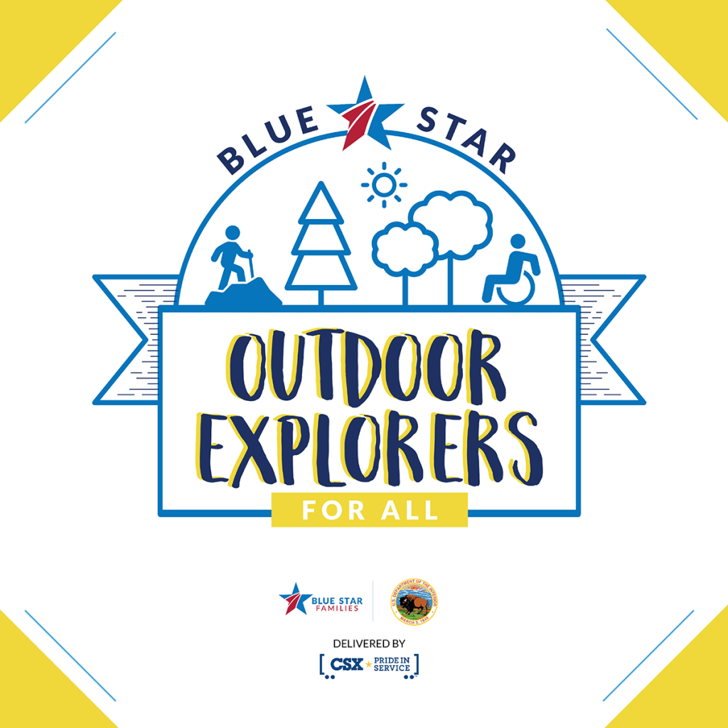 Blue Star Families Outdoor Explorers For All program graphic image