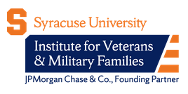 Syracuse University Institute for Veterans & Military Families (IVMF) logo on white