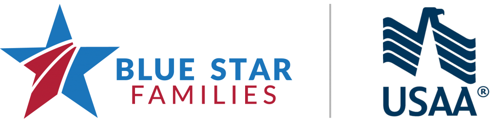 Blue Star Families - USAA logo lockup transparent
